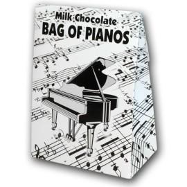 Belgian Milk Chocolate Bag Of Pianos - 100g
