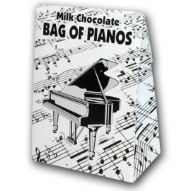 Belgian Milk Chocolate Bag Of Pianos - 100g