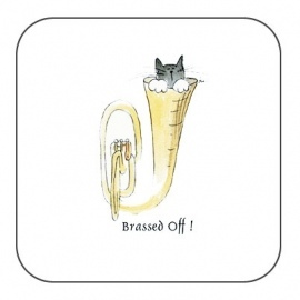 Pair of Brassed Off Coasters