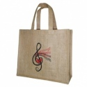 Jute Shopper Treble Clef design