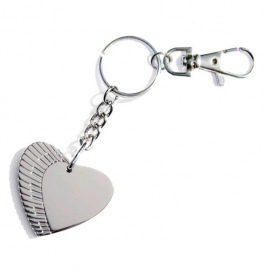 Metal Piano Heart Key Ring