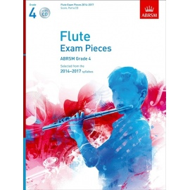 Flute Exam Pieces 2014-2017 Grade 4 Score, Part and CD