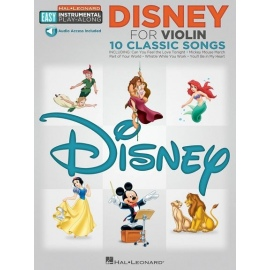 Easy Instrumental Play-Along: Disney for Violin 10 Classic Songs