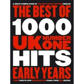 The Best Of 1000 UK Number One Hits Early Years - Chord Songbook