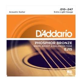 Phosphor Bronze EJ15 .010-.047 Extra Light Gauge