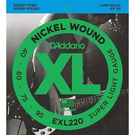 EXL220 Bass Nickel Wound XL Super Light Gauge 40-95