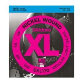 EXL170 Bass Nickel Wound XL Regular Light Gauge 45-100