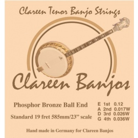 Tenor Banjo Strings Phosphor Ball End