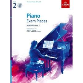 ABRSM Piano Exam Grade 2, (Bk&Cd) 2017-2018