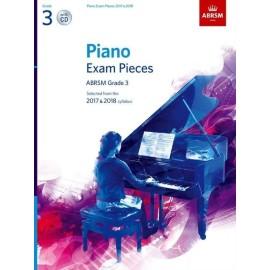 ABRSM Piano Exam Grade 3, (Bk&Cd) 2017-2018