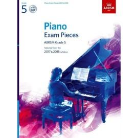 ABRSM Piano Exam Grade 5, (Bk&Cd) 2017-2018