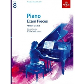 ABRSM Piano Exam Grade 8, 2017-2018 (Book Only Edition)