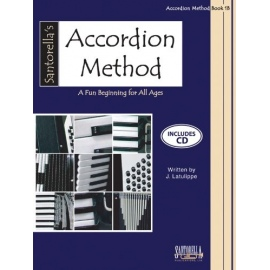 Santorellas Accordion Method Book 1B Book & CD