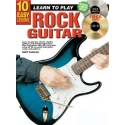 10 Easy Lessons learn To Play Rock Guitar (Book & CD & DVD)