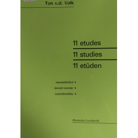 11 Studies Descant Recorder by Ton v.d. Valk