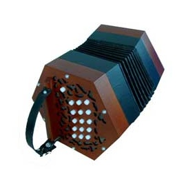 Tina Concertina (Brown Finish)