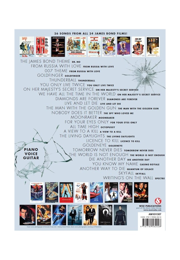 The Ultimate James Bond Collection Music From All 24 Films Piano