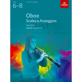 OBOE SCALES AND ARPEGGIOS FROM 2018 ABRSM 6-8