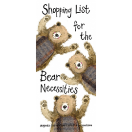 Shopping List for the Bear Necessities Shopping List - Magnetic Pad with pages to tear off as you need them.