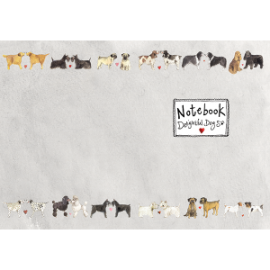 Delightful Dogs Medium Soft Notebook