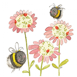 Bee and Flower Mini Magnetic Notepad