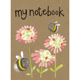 Bees Small Kraft Paper Notebook