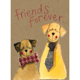 Friends Forever Small Kraft Paper Notebook