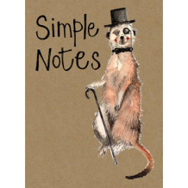 Meerkat Small Kraft Paper Notebook