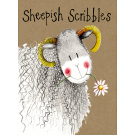 Sheepish Scribbles Small Kraft Paper Notebook