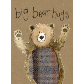 Big Bear Hugs Small Kraft Paper Notebook