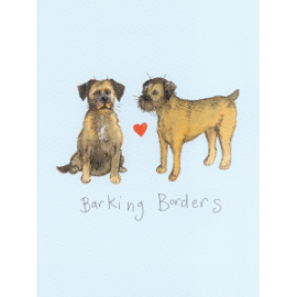 Barking Borders Small Spiral Notepad
