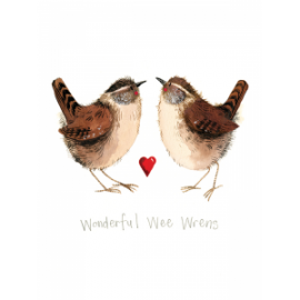 Wonderful Wee Wrens Small Spiral Notepad
