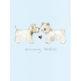 Welcoming Westies Small Spiral Notepad