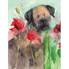 Border Terrier Cat Small Chunky Notepad