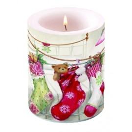 Christmas Stockings Big Candle