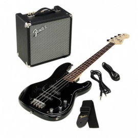 0301972606 Squier Affinity Series Precision Bass PJ Pack, Black