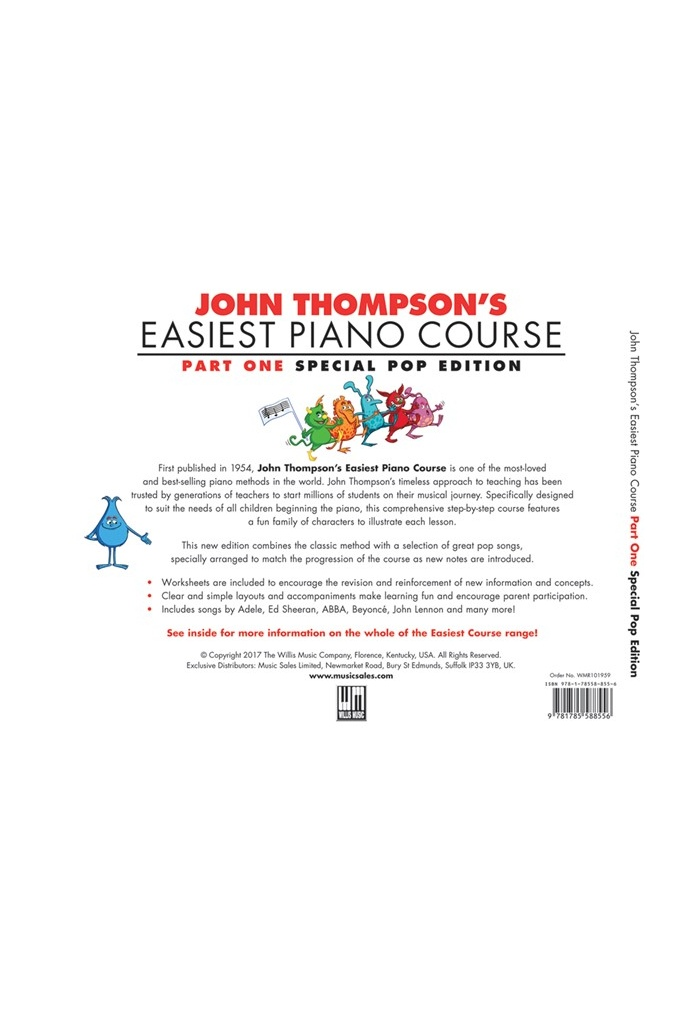 JOHN THOMPSON'S EASIEST PIANO COURSE: POP EDITION | PIANO | SAVINS MUSIC  CENTRE