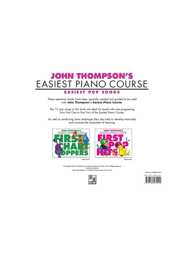 JOHN THOMPSON'S EASIEST PIANO COURSE: EASIEST POP SONGS | JOHN THOMPSON'S  EPC | SAVINS MUSIC CENTRE