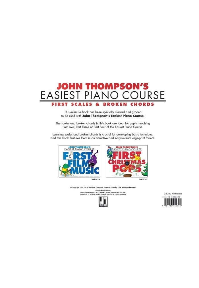 John Thompsons Easiest Piano Course First Scales Broken Chords